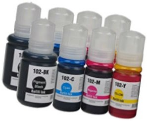 2X Set Tintenpatronen kompatibel für EPSON EcoTank ET-2700 ET-2750 ET-3700 ET-3750 ET-4750 | 102 C13T03R140 127ml C13T03R240 C13T03R340 C13T03R440 70ml -
