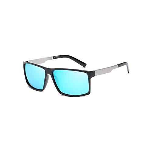 Sport-Sonnenbrillen, Vintage Sonnenbrillen, Fashion Classic HD Polarisiert Sunglasses Men Square Driving Sun Glasses Male Outdoor Sports Goggles UV400 Gafas CC1040 C2 Black blue