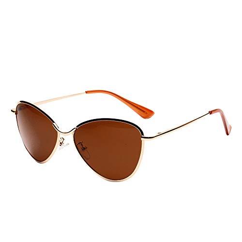 Whycat Damen Sonnenbrille Braun Outdoor Aviator Lesesonnenbrille mit Farbverlauf Braun Grau Metall Bifokale Sonnenbrille für Männer Frauen Leser (D)(D)