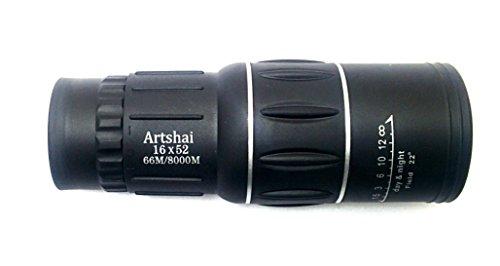Artshai big eyepiece high quality Professional dual focus 16 X 52 Monocular, Good quality telescope