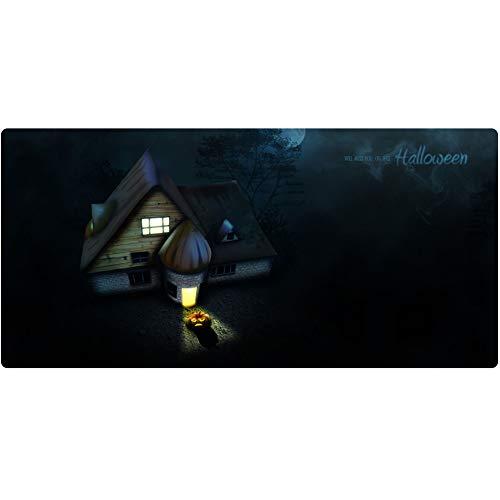 auspad (900x400x3mm), verlängertes XXL-Gaming-Mauspad mit Rutschfester Gummibasis, glattem Tuch, verschleißfreier Nähfaden für PC, PC, Laptop, Schreibtisch - Halloween ()