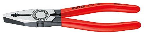 KNIPEX 03 01 140 Kombizange schwarz atramentiert mit Kunststoff überzogen 140 mm