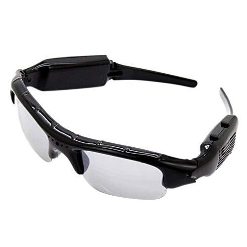 Fornateu Dünner DVR Sonnenbrille-Kamera TF-Karten-Miniaudiovideogerät Mini-DV-Videorekorder Stilvolle Brillen