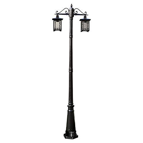 Luz columna jardín antiguo E27 lámpara pie Luz pedestal