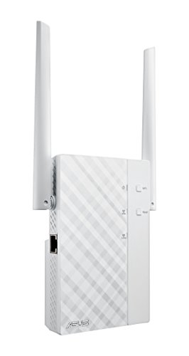 Asus RP-AC56 AC1200 WLAN Repeater (Neuster WLAN AC-Standard, externe Antennen, Power & WPS-Schalter, Asus Dual-Band ExpressWay, Asus Roaming Funktion) weiß