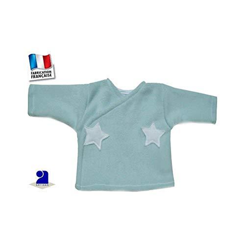 Poussin bleu - Gilet forme brassière polaire 0 mois-12 mois Made In France  Couleur af4bdd7bc77f