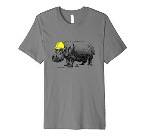 Hippo A Hard Mütze Konstruktion T-Shirt