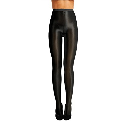 d5a55849b Alvivi Women s Ultra Thin Shimmery Tights 70D Stockings Pantyhose Silk  Stocking Shiny Hosiery Black One Size