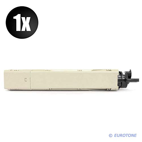 1x Eurotone Toner für Oki C 3300 3400 3450 3600 N ersetzt 43459332 Schwarz Black