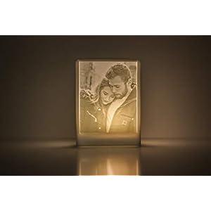 3D Fotolampe batteriebetrieben perfektes personalisierbares Valentinstag Geschenk