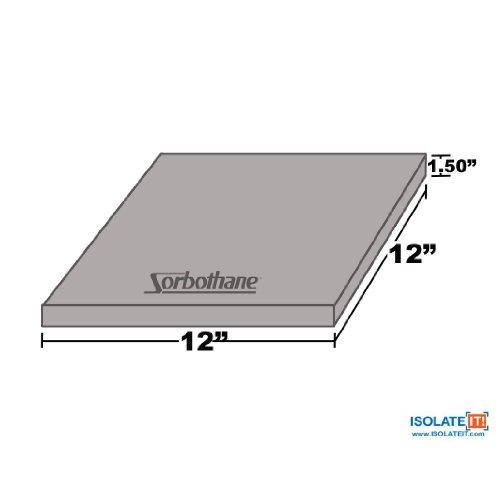 SORBOTHANE–LAMINA DE 30DURO 1 5(3 81CM) X 12IN (30 5CM) X 12IN (30 5CM)