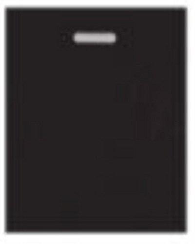 Manche Couleur Noir en plastique polyéthylène Die Cut robuste 500 sacs – Grande taille 38,1 x 45,7 x 7,6 cm Patch varigauge Shopping Boutique Cadeau Parti Fancy
