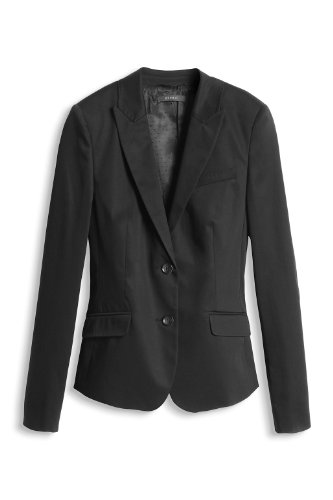 ESPRIT Collection Damen Blazer 994EO1G900 Slim Fit Schwarz (001 Black)
