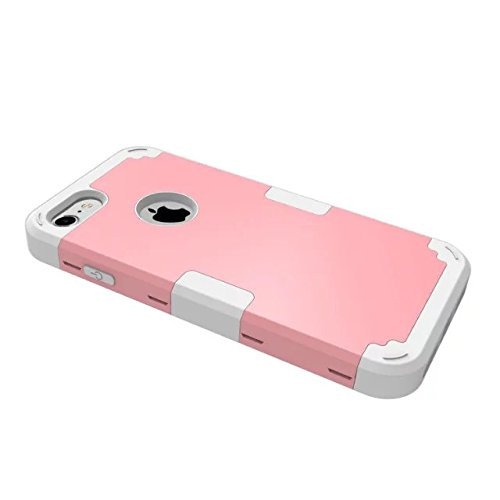 iPhone 7 hülle, Lantier 3 in 1 [weicher harter Tough Case] [Anti Scratch] [Stoßdämpfung ] Leichte Schlank Voll Body Armor Schutzhülle für Apple iPhone 7 (4,7 Zoll) Mint Green + Grau Pink+Grey