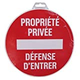 Novap - Panneau - Propriete privee defense d'entrer - Diametre 180Mm Rigide