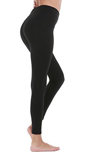 DeepTwist Pantaloni da Yoga Donna Alta Vita - Allenamento Leggings Opaco Yoga Fitness Spandex Palestra Pantaloni Black(High Waist Pants)