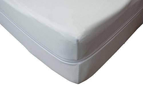 mybeene Matratzenbezug 90x200x17 mit Reißverschluss | Polyester | atmungsaktiv | trocknergeeignet | Unter-Bett | Matratzen-Auflage | Schonbezug |Matratzenhülle | Matratzenüberzug (90x200x17)