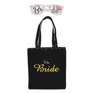 Red Lips Bride Sunglasses Gift Tote Bag Fancy Dress Glasses Bridal Shower