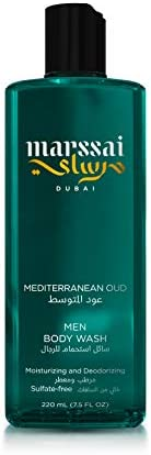 Marssai Men Body Wash, Mediterranean Oud, 220 ml