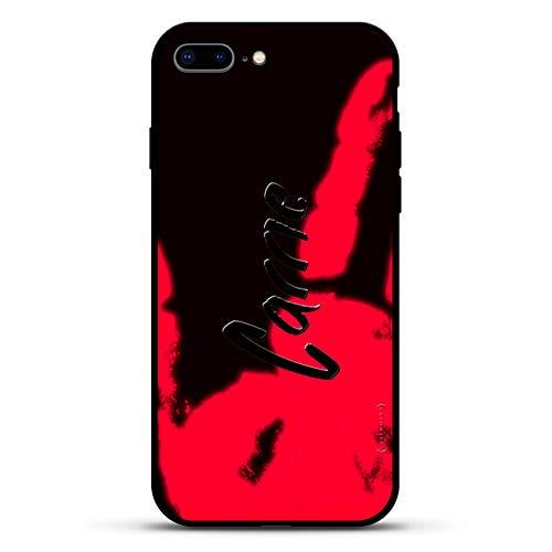 Name: Carrie, handgeschriebener Stil, Luxendary Magma Serie: Farbwechsel-Matte Schutzhülle mit 3D-Druck und gehärtetem Glas für iPhone 8/7 Plus in Anthrazit
