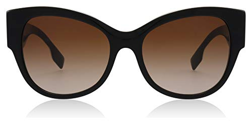 Burberry occhiali da sole b her be 4294 black red/brown shaded donna