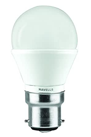 Havells Lumeno Base B22 3-Watt Ball LED Lamp (Warm White)