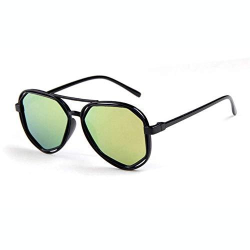 BAIF Sonnenbrille Goggle Small Frame Polygon Klare Linse Sonnenbrille Männer Sonnenbrille Hexagon Uv400