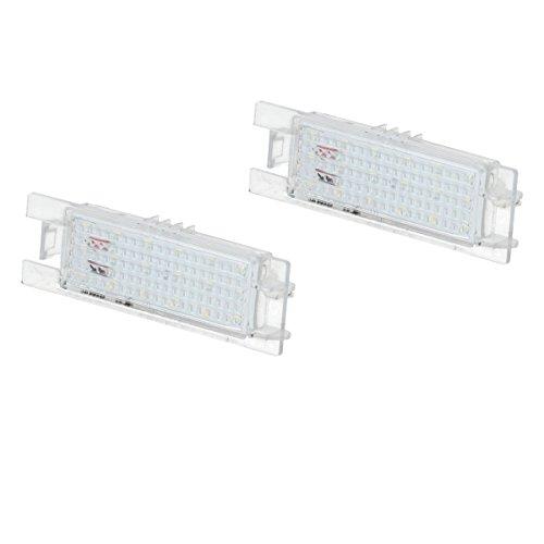 ECD Germany 2 x LED Kennzeichenbeleuchtung mit E-Prüfzeichen 18 SMD Kennzeichenleuchten Nummernschildbeleuchtung Nummernschildleuchten