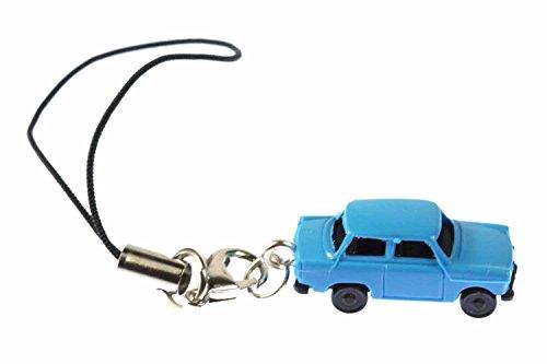 Miniblings Trabi Trabant Trabbi Handyanhänger Modell 1 160 Miniatur Auto blau