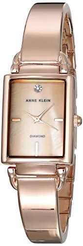 Anne Klein Classic Reloj de Mujer Cuarzo Correa y Caja de Acero AK/2494BMRG