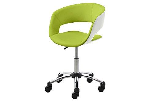 ac-design-furniture-0000057019-burostuhl-jack-sitz-lederlook-lime-pu-ruckenteil-weiss-pu-gestell-chr