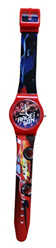 Kinder-Armbanduhr, Motiv: Cars Disney Flash Mac Queen (Lightning Mcqueen Uhr)