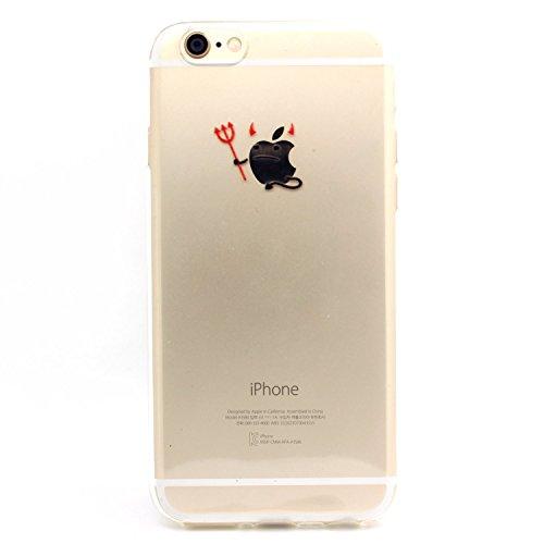 JIAXIUFEN Neue Modelle TPU Silikon Schutz Handy Hülle Case Tasche Etui Bumper für Apple iPhone 6 Plus / iPhone 6s plus - Henna Series Apple Butterfly Girl Color28