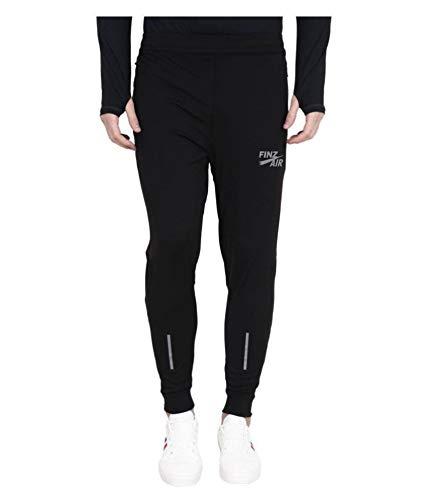 FINZ Men's Lycra Jogger Pant (Black, 32)