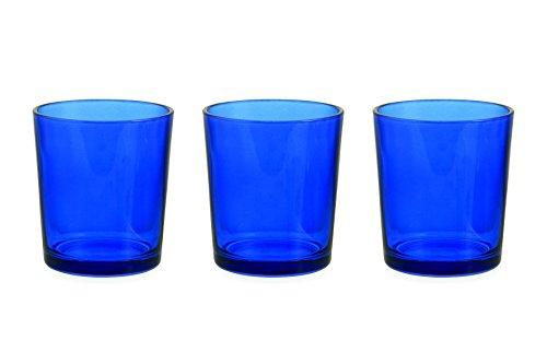 Galileo Casa die Küche Set von 3Wasserglas, Glas, Blau, 3Stück - Blaue Gläser