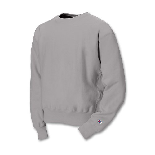 Champion 82/18 Reverse Weave Crew - Silver Gray - LARGE (Wide Sleeve Pullover)