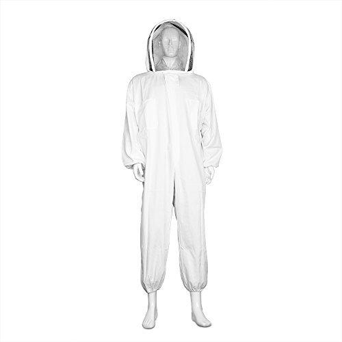 flexzion Imker Anzug Full Body–Bienenzucht Bee passt nötigen Supplies Outfit Ausrüstung mit Schutz selbsttragend Schleier Kapuze für Bee Keepers XL groß ()