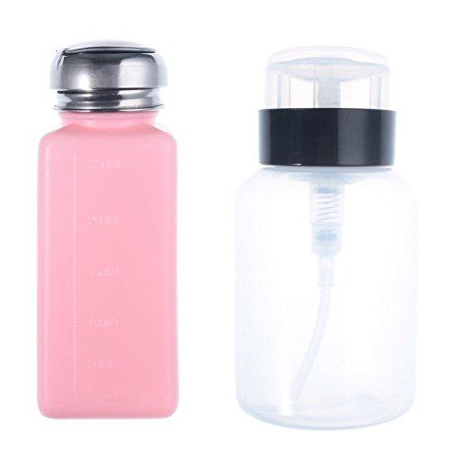well-goal-2pcs-new-empty-pump-dispenser-for-nail-art-polish-remover-200ml-bottle