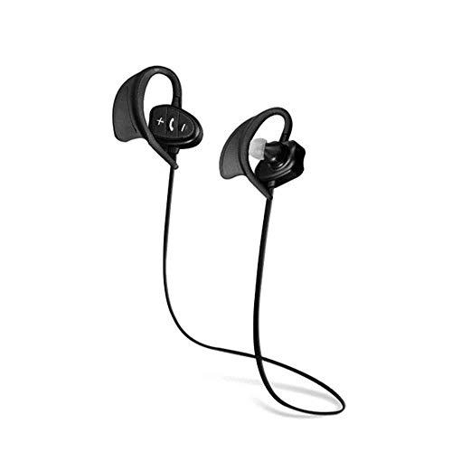 ZENWEN Bluetooth-Kopfhörer, Sport IPX8 Klasse Wasserdichte Mini Wireless Ohrenstöpsel, binaurale Stereo Musik Wireless Mikrofon-Büro/Fahren/Übung (schwarz) Binaural-stereo