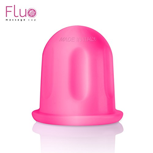 Fluo massage cup originale e made in italy coppetta anti-cellulite contro gli inestetismi della tua pelle | soddisfatta o rimborsata!! | (fucsia)