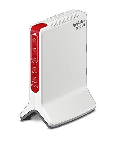 AVM FRITZ!Box 6820 LTE (LTE (4G) bis 150 MBit/s, UMTS (3G) bis 42 MBit/s, WLAN N bis 450 MBit/s, 1 x Gigabit-LAN )