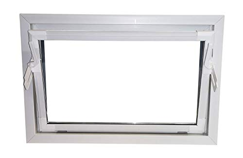 ACO 100cm Nebenraumfenster Kippfenster Einfachglas Fenster weiß Kellerfenster, Größe Kippfenster:100 x 80 cm