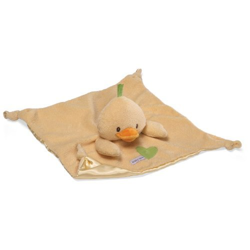 Gund Baby Love Satineesnug Ente Komfort Decke Schnuller