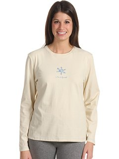 Life is Good Damen Sleep Long Sleeve Tee Wasser Schneeflocke, damen, cremefarben (Long Schneeflocke Sleeve Tee)