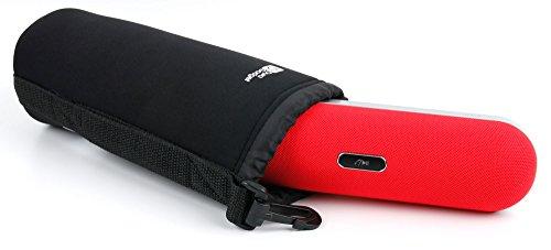 Digitale Slr-holster (DURAGADGET Neopren-Schutzhülle für Amazon Basics Wireless Dual 3W Lautsprecher mit integriertem Mikrofon, sehr weich, Gr. L, Schwarz)
