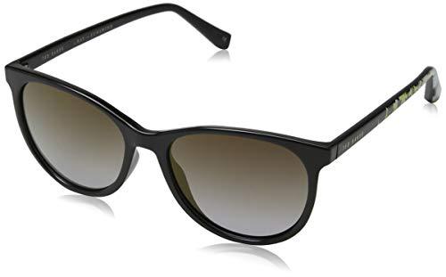 Ted Baker Damen Lyric Sonnenbrille, Schwarz (Black/Grey), 54.0