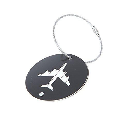 Cansenty Etiquetas de aluminio para equipaje de viaje, portaetiquetas, nombre, dirección, etiqueta...