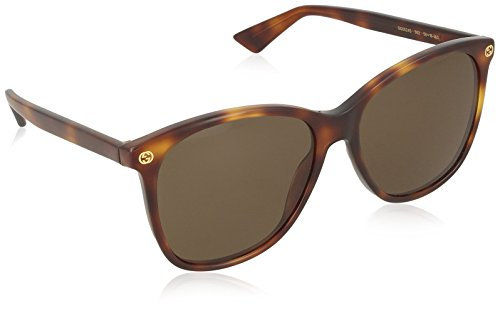 Gucci Damen GG0024S 002 Sonnenbrille, Braun (Avana/Brown), 58