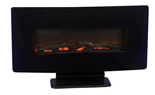 Classic Fire Elektrokamin Calgary 1400W mit simuliertem Kaminfeuer und Fernbedienung Feuereffekt Standkamin Wandkamin elektrischer Kamin