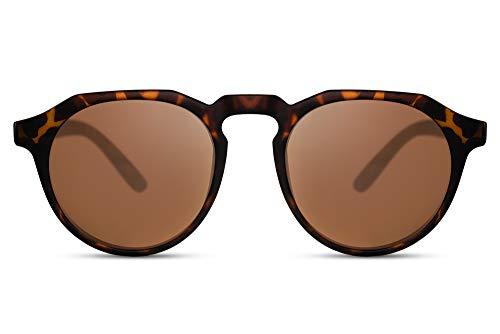 Cheapass Sunglasses Sonnenbrillen Beliebt Matt Schildkröte Runder Stil mit flachem Oberrand Frauen Männer